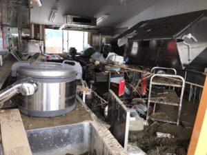 給食室の設備もすべて水没した